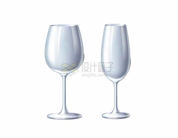 2款银色的高脚杯酒杯红酒杯447243png图片素材