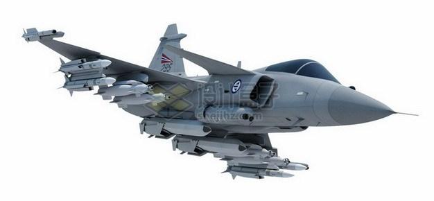 瑞典JAS-39鹰狮战斗机png免抠图片素材 军事科幻-第1张