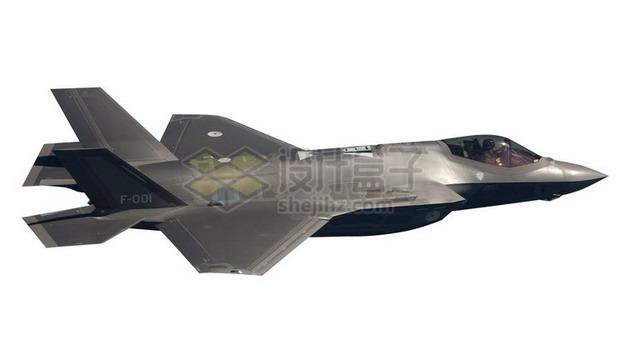F35肥电战斗机舰载机侧视图png免抠图片素材 军事科幻-第1张