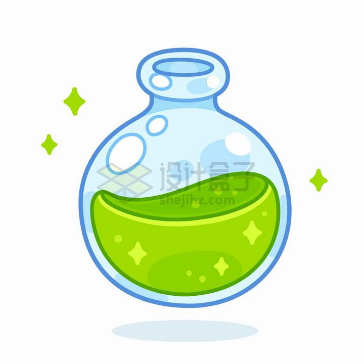 卡通圆形药水瓶游戏道具png图片免抠矢量素材