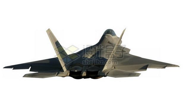 F22猛禽战斗机后视图png免抠图片素材 军事科幻-第1张
