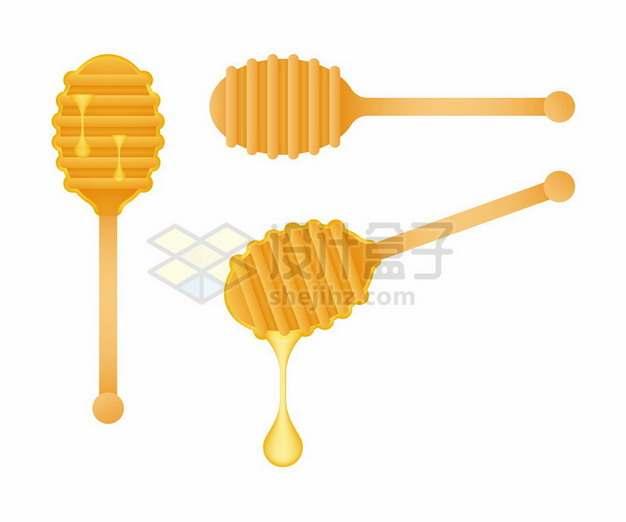 3款蜂蜜棒和美味蜂蜜349048png图片素材
