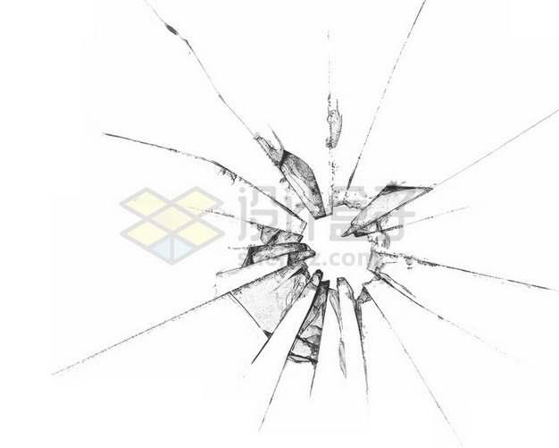 玻璃破碎裂纹裂缝碎片819436png图片素材