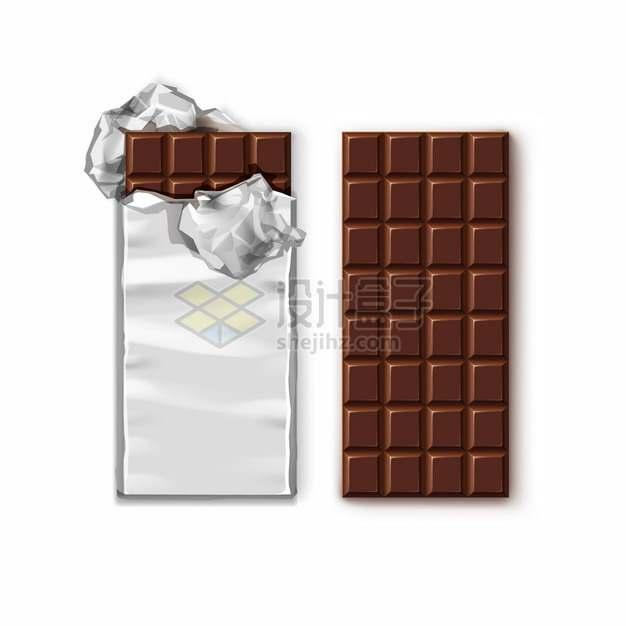 撒开锡纸包装的巧克力314303png图片素材