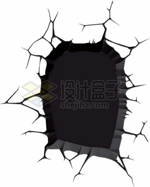 黑色墙壁干裂龟裂的土地黑色裂纹裂缝图案327650png图片素材