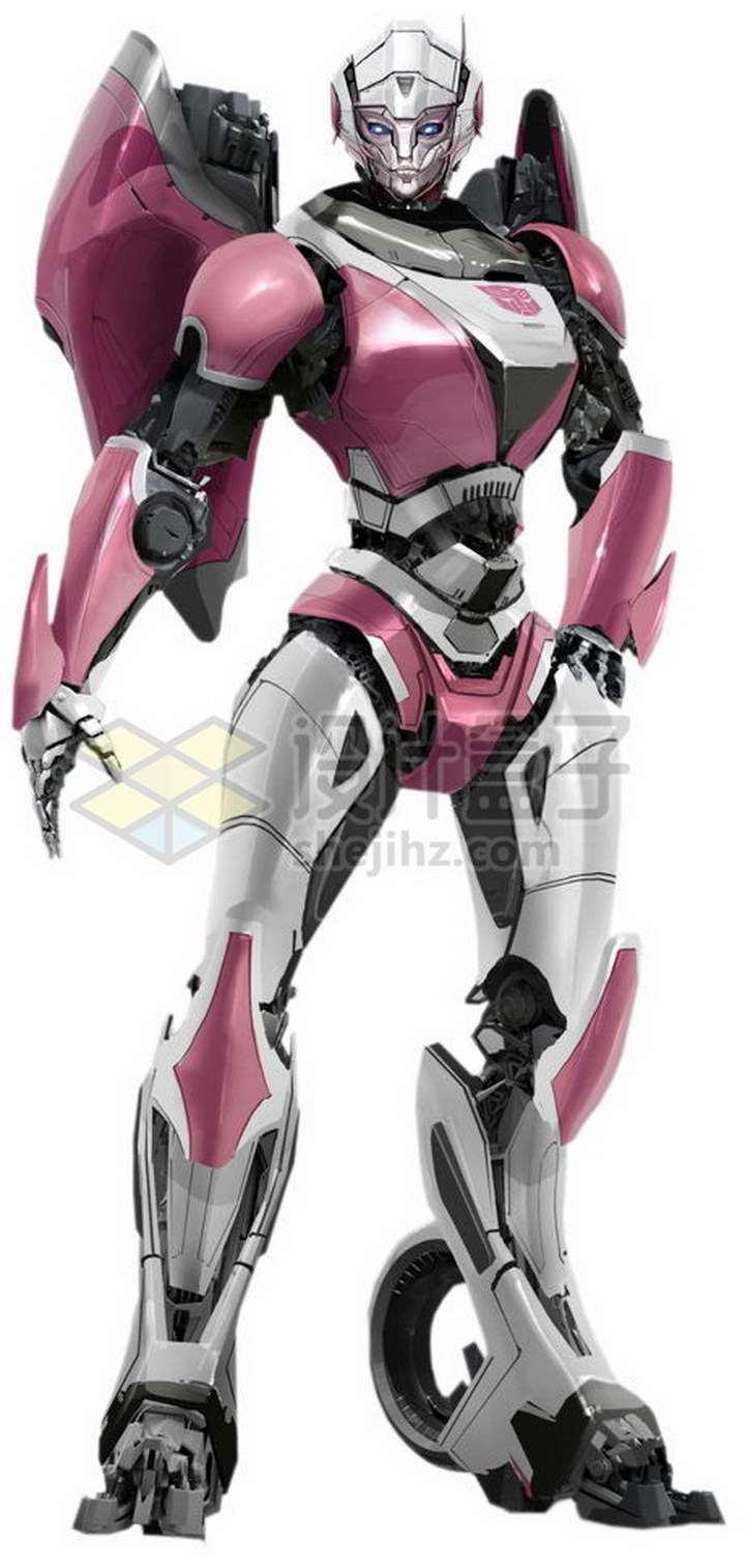 粉色的变形金刚阿尔茜女机器人png图片免抠素材