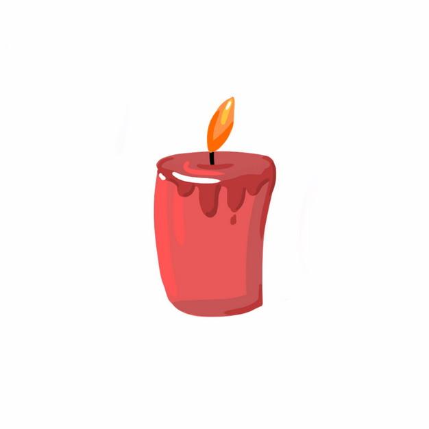 燃烧的卡通红色许愿蜡烛2963072png图片素材