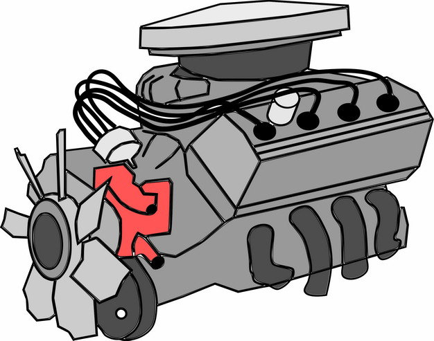 手绘风格汽车发动机7605469png图片素材 工业农业-第1张