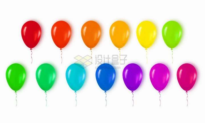 各种七彩色的气球png图片免抠矢量素材