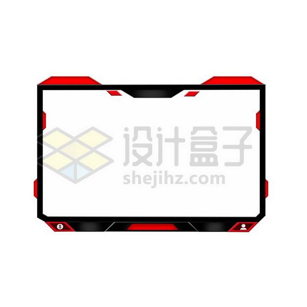 红黑色边框方框png图片素材699195