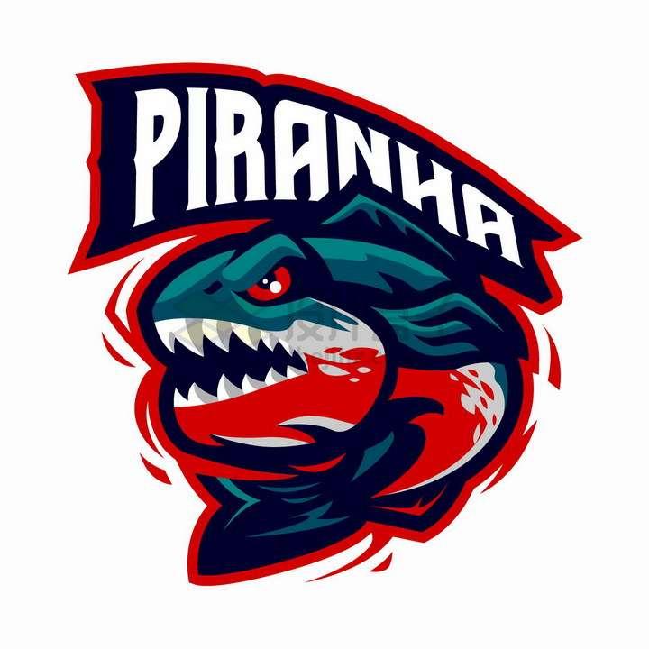 愤怒的鱼儿钓鱼用品公司logo设计png图片免抠矢量素材