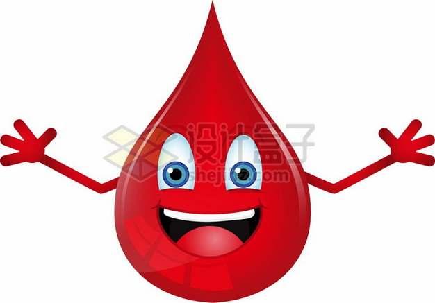 一滴血卡通鲜血液滴png图片素材