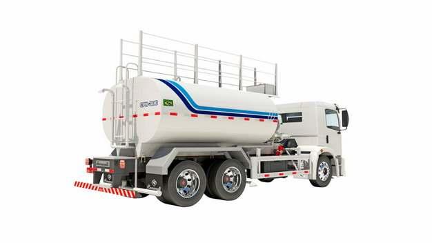 白色槽罐车油罐车危险品运输卡车特种运输车536835png图片素材