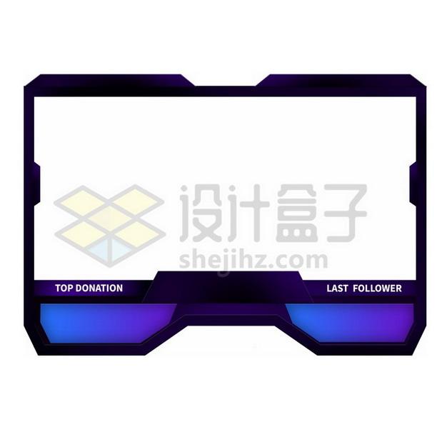 紫黑色体育比赛比分边框方框png图片素材235648