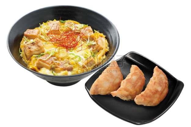 芝士鸡肉和炸饺子日式料理png图片素材