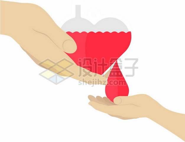 抽象无偿献血献爱心png图片素材