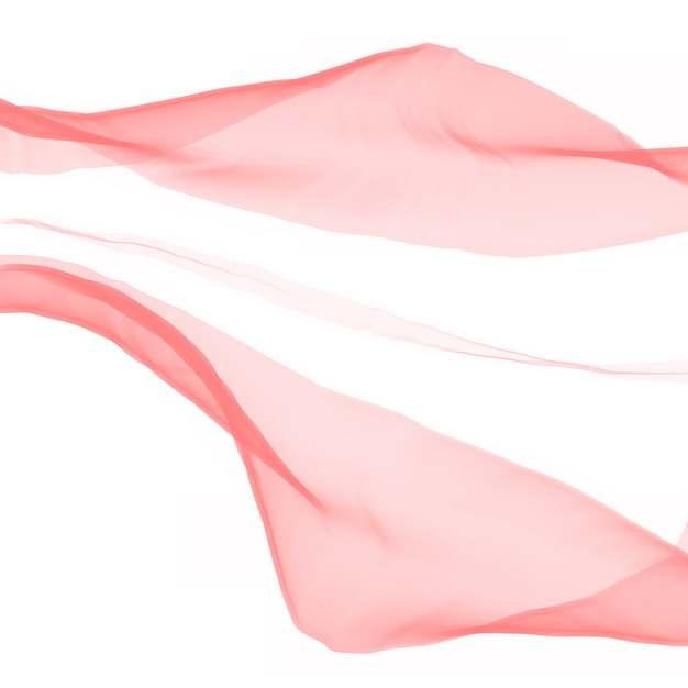 半透明飘舞的红色绸缎丝绸飘带装饰3221545png图片素材