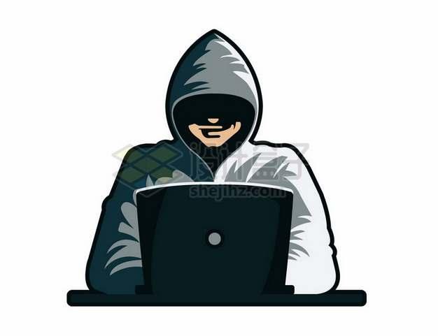 电脑前的黑客827704png图片素材