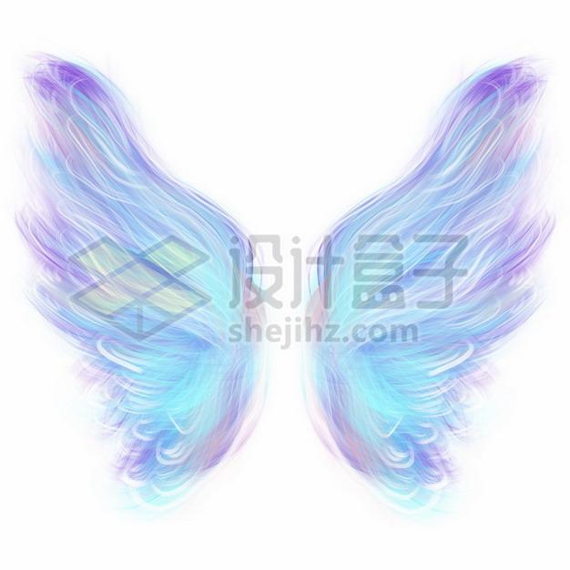 彩色绚丽的天使翅膀png图片素材212937