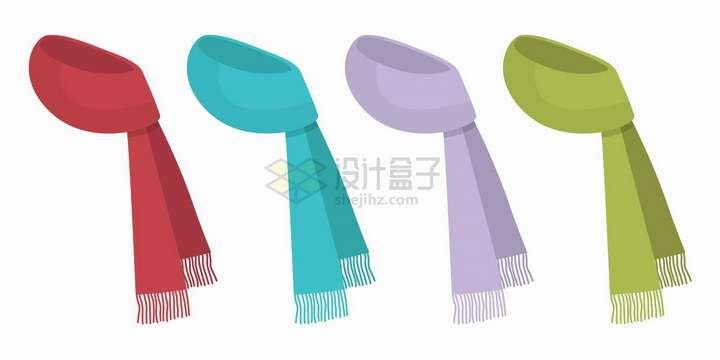4款简约的围脖围巾png图片免抠矢量素材