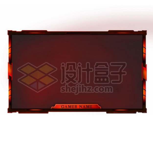 深红色体育比赛比分边框方框png图片素材206468