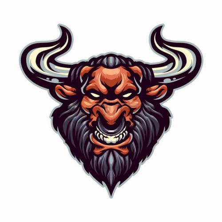 愤怒的牛头人牛魔王logo设计png图片免抠矢量素材