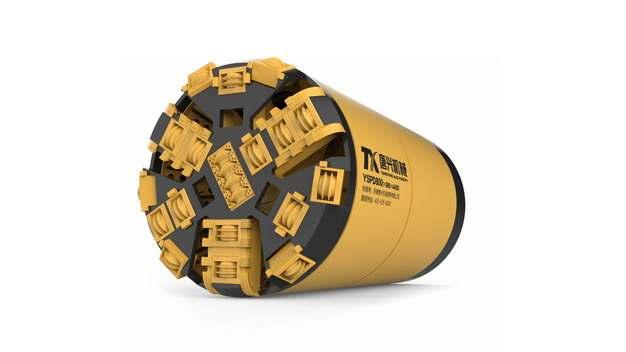 黄色的3D立体挖掘隧道的盾构机709432png图片素材