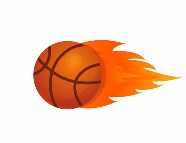 卡通篮球和火焰755927AI矢量图片素材