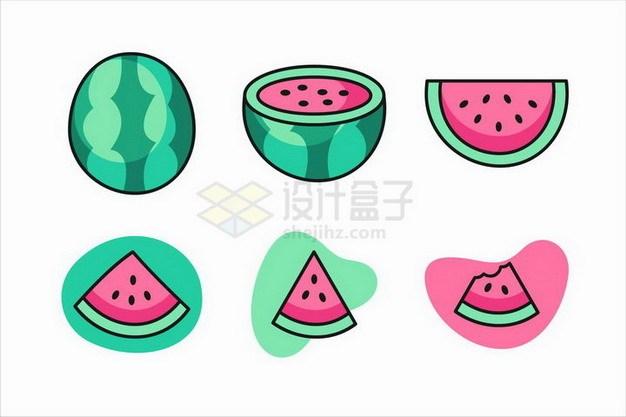 卡通西瓜美味水果png图片免抠矢量素材 生活素材-第1张