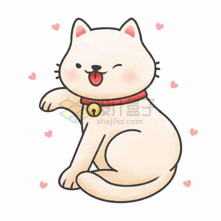 简约卡通招财猫小猫咪png图片免抠矢量素材