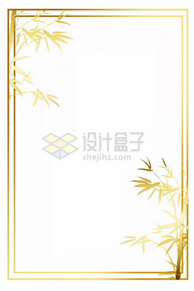 金色竹子边框655328png免抠图片素材 边框纹理-第1张