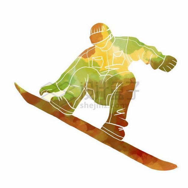 玩滑板的少年彩色涂鸦376219png免抠图片素材 人物素材-第1张
