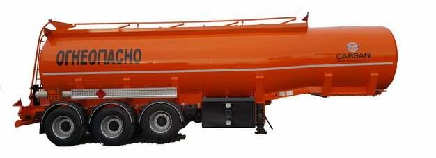 橘红色槽罐车油罐车危险品运输卡车特种运输车挂车967315png图片素材