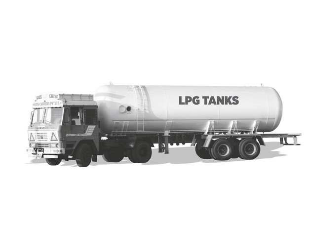 灰色的槽罐车油罐车危险品运输卡车977990png图片素材
