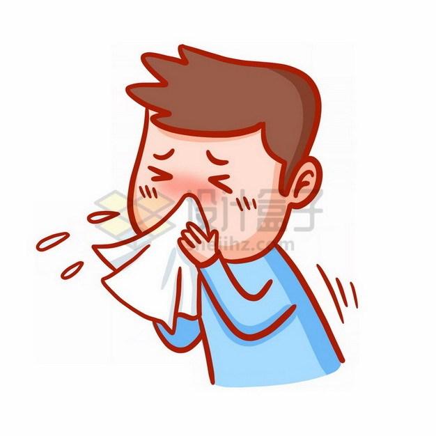 卡通男孩打喷嚏700384png免抠图片素材 健康医疗-第1张