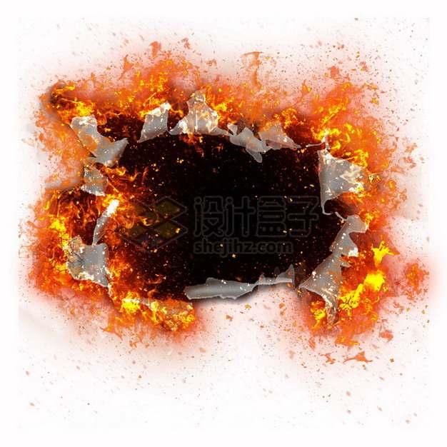 燃烧着火焰的纸张特效果878213png图片素材