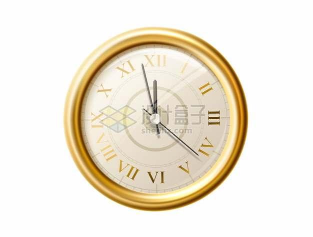 金色边框的钟表时钟挂钟333720png图片矢量图素材