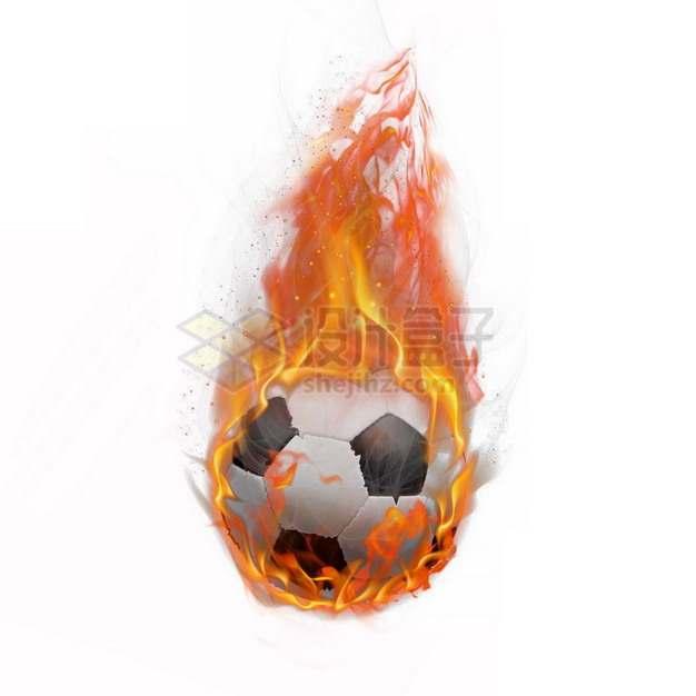 燃烧着火焰的足球特效果3476194png图片素材