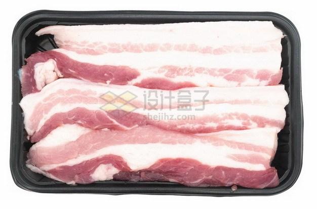 盒子里的五花肉猪肉生肉873221png免抠图片素材 生活素材-第1张