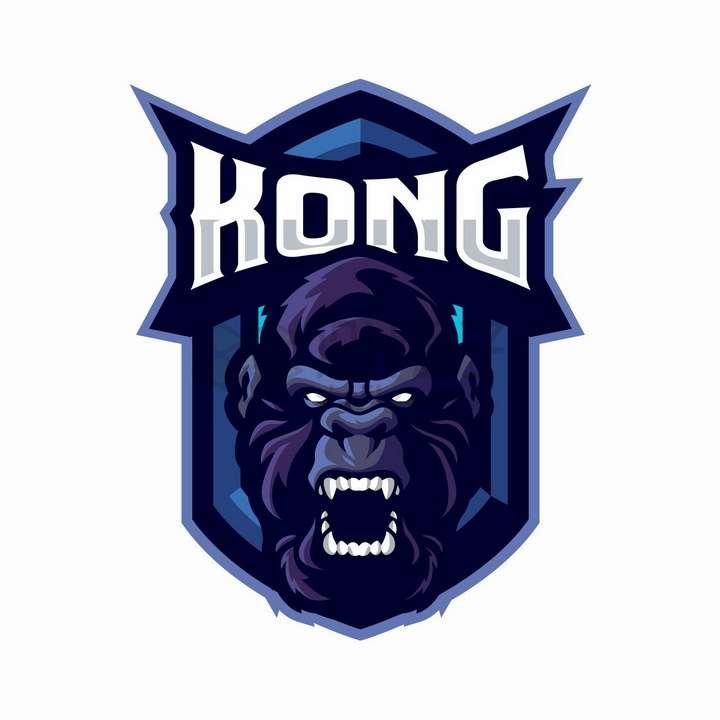愤怒的大猩猩游戏公司logo设计png图片免抠矢量素材