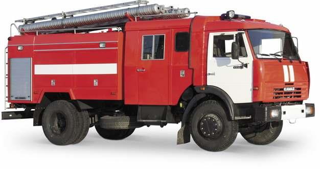 红色消防云梯车784215png图片素材