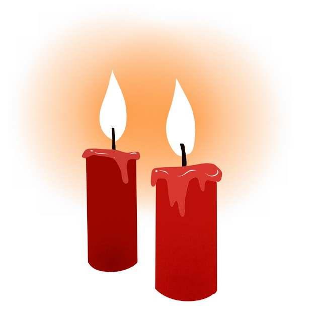 两根燃烧的红色蜡烛4592151png图片素材