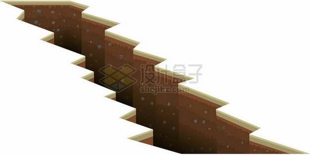 3D立体地面裂缝悬崖断崖764397png图片素材
