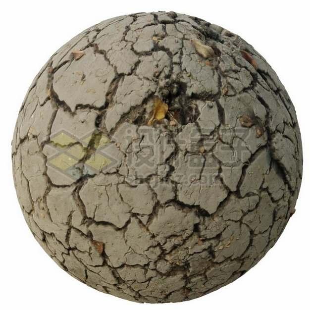 高清干裂的泥土块土球裂纹png图片素材