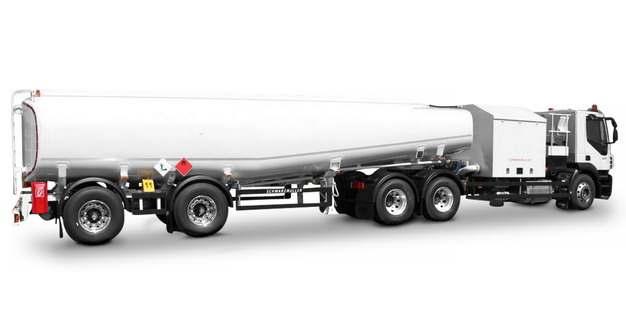 白色加长型槽罐车油罐车危险品运输卡车112338png图片素材