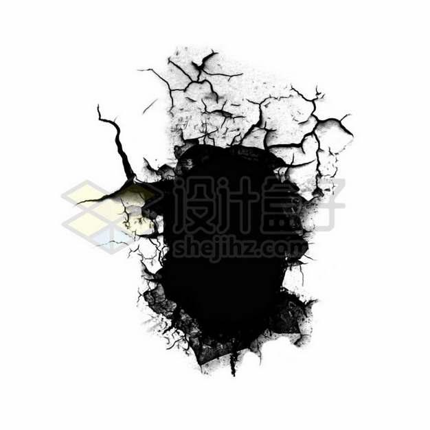 墙壁墙皮干裂脱落裂缝图案545781png图片素材
