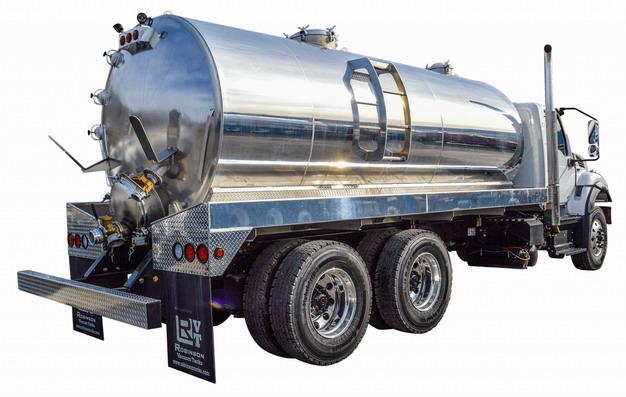 银色槽罐车油罐车危险品运输卡车侧后方视图718782png图片素材 交通运输-第1张