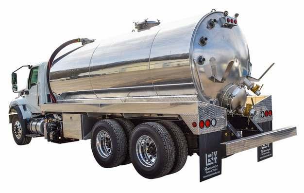 银色槽罐车油罐车危险品运输卡车特种运输车336411png图片素材