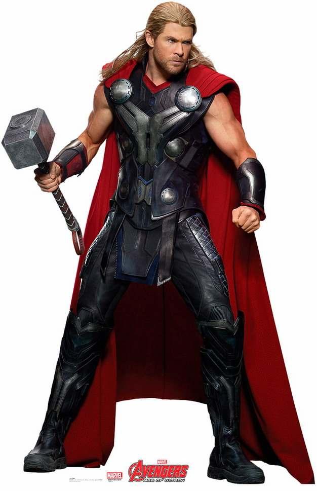 拿着雷神之锤准备战斗的雷神托尔png免抠图片素材