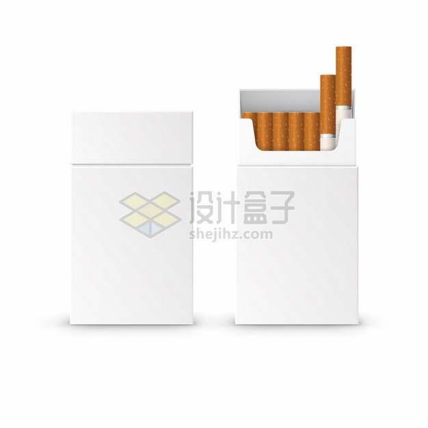抽出两根香烟的空白香烟盒517233png图片素材